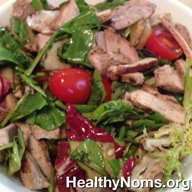 Grilled Pork Chop Salad