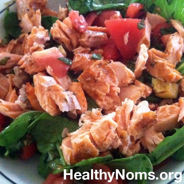 Grilled Salmon & Salad